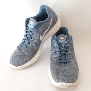 Nike Lunartempo 2 blue and white running shoes